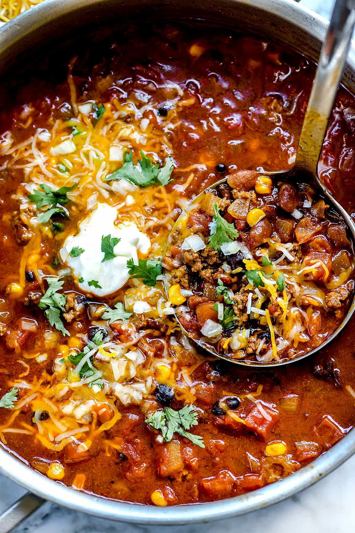 Easy Taco Soup (Stove Top, Crock Pot or Instant Pot) | foodiecrush .com