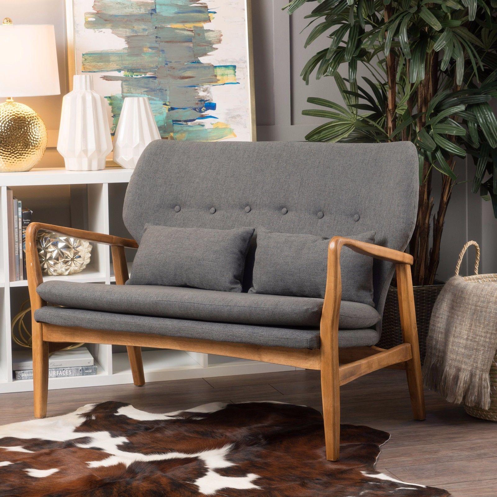 Ventura mid century modern design bentwood upholstered loveseat upholstered loveseat bentwood design century modern ventura
