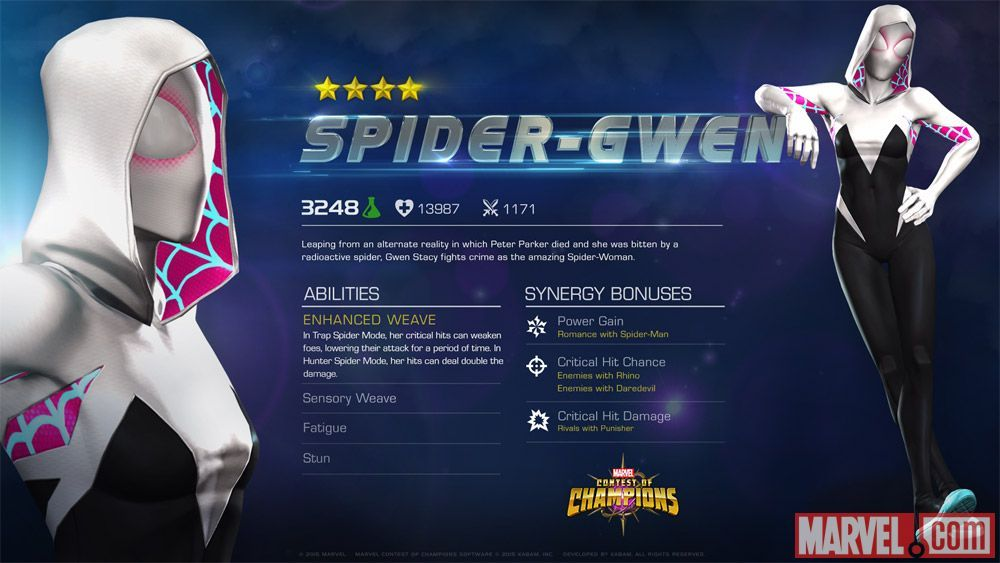 Spider-Gwen in Marvel Contest of Champions
