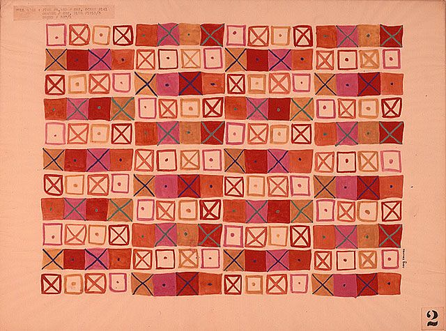 crosspatch by ray eames for schiffer prints 1949 textiles textiledesign eames - Textile Design Blogs