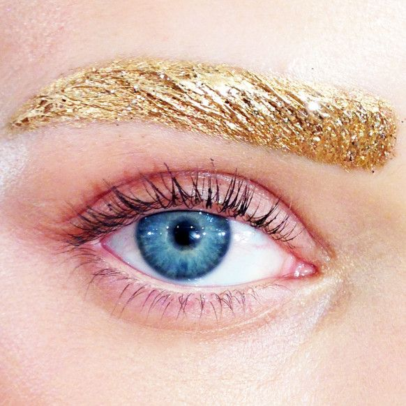 CHIC JORDAN l dior l eyebrows l gold http://intothegloss.com/2013/09/all-eyes-on-dior-makeup-spring-2014/