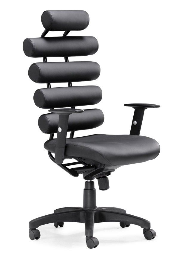 310 95 Zuo Unico Office Chair Black Modern Furniture Futuristic Chair Futur Office Furniture Modern Black Office Chair High Back Office Chair
