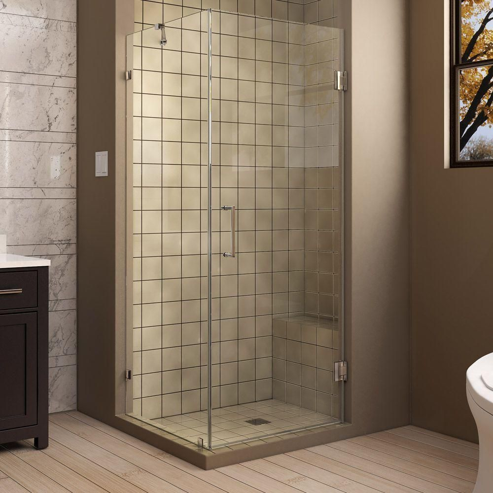 Dreamline Unidoor Lux 30 In X 30 3 8 In X 72 In Frameless