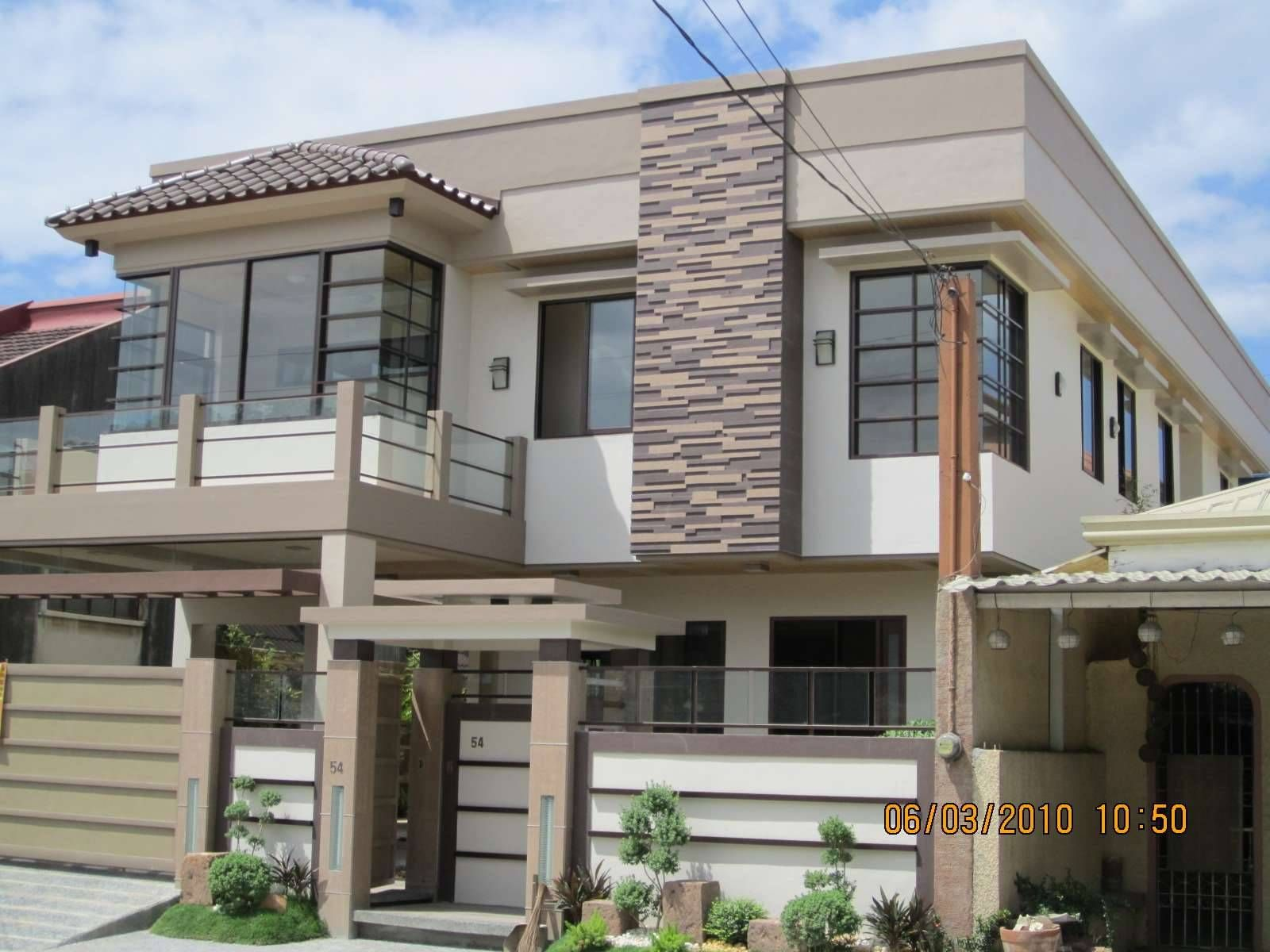Philippines modern house exterior design dream house for Modern house front design
