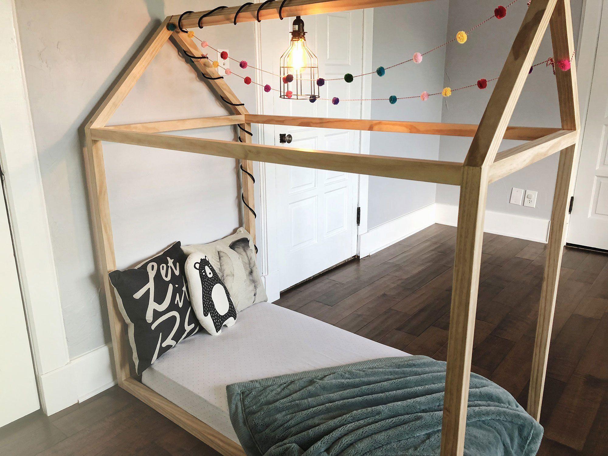 Diy Toddler House Bed The Okie Home Pinterest Diy Toddler Bed