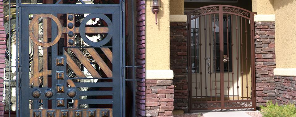 Olson Iron Courtyard Entries Are A Successful Deterrent To