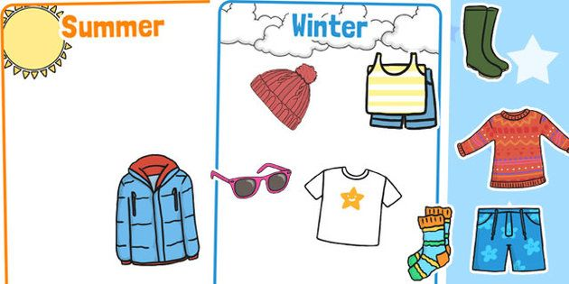 Winter and Summer Clothes Sorting Activity - Twinkl | Winter ...
