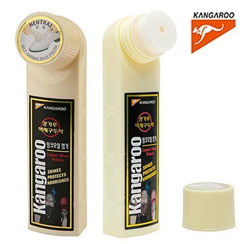 f57dac11f27b (Neutral) Kangaroo Liquid Shoe Polish Shines Leather Easy Self Care Shining  (50ml x 1pcs)