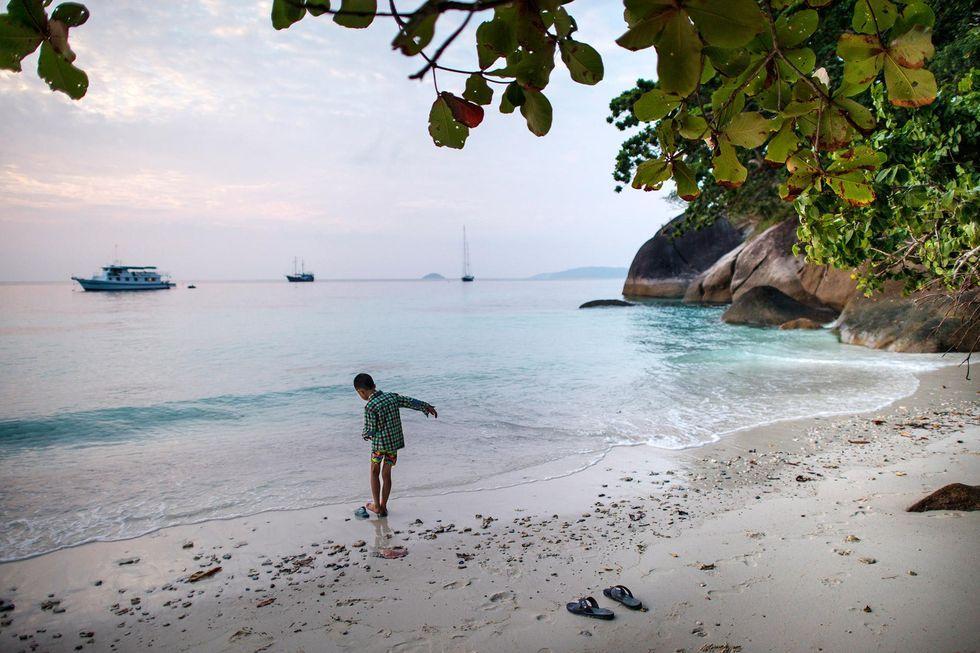 Thailändska Koh Similan paradisöar i Andamanhavet
