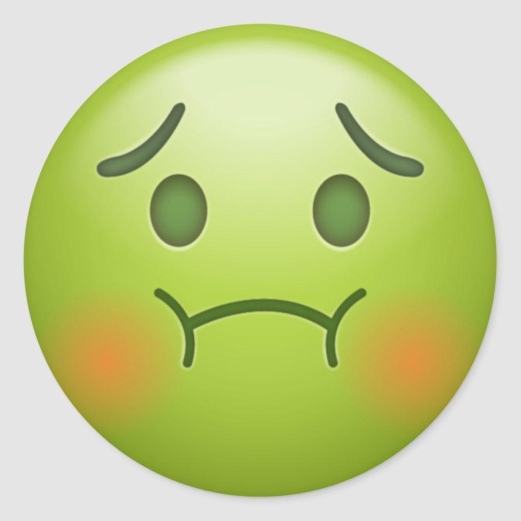 Sick Note Emoji Face Classic Round Sticker In 2020 Emoji Faces Emoji Wallpaper Emoji Wallpaper Iphone