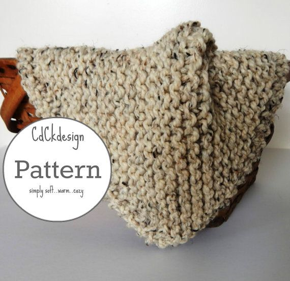 Knitting Pattern - Chunky Knit Wool Baby Blanket - Baby Throw ...