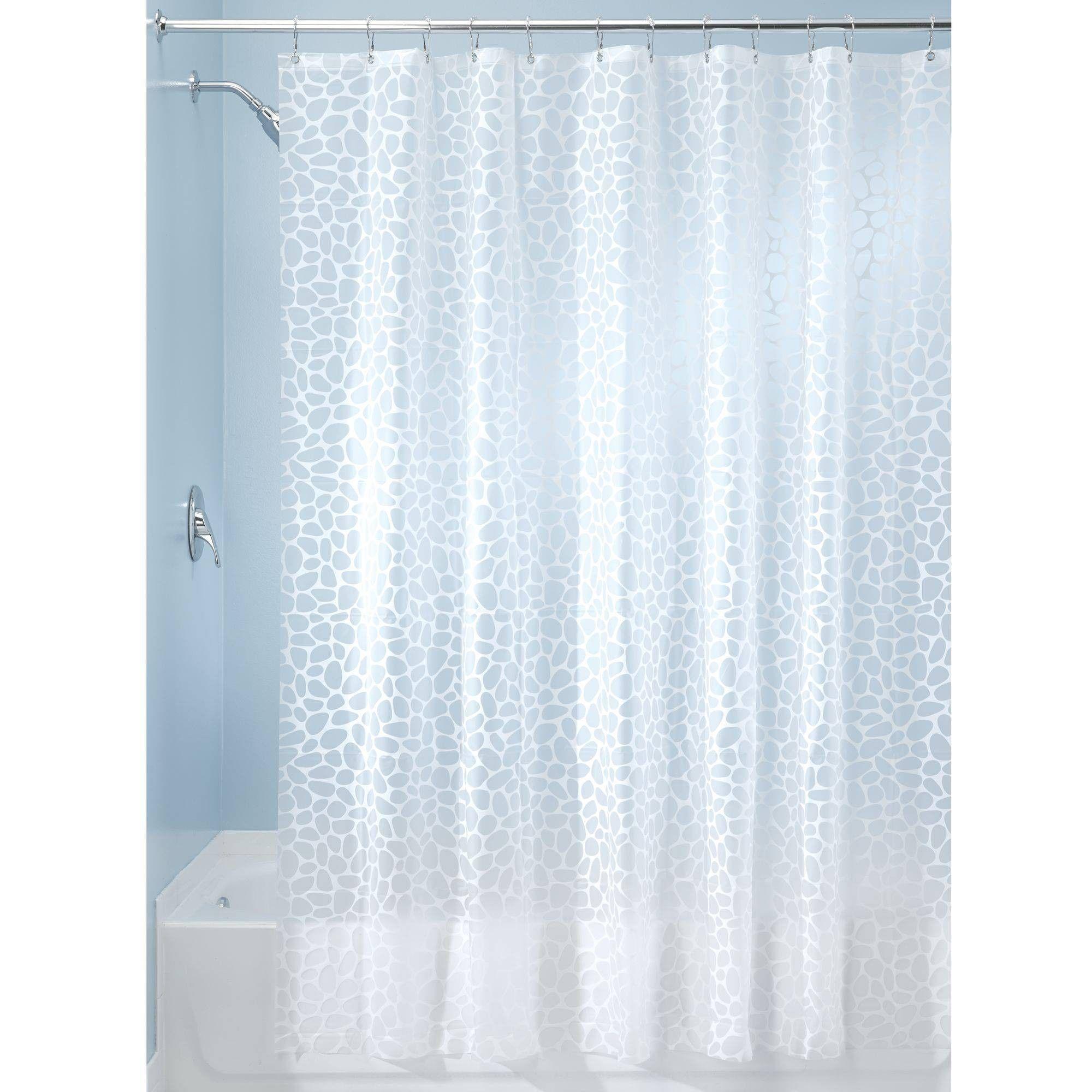 Set Of 2 Pebblz Peva Shower Curtain Liners White Idesign
