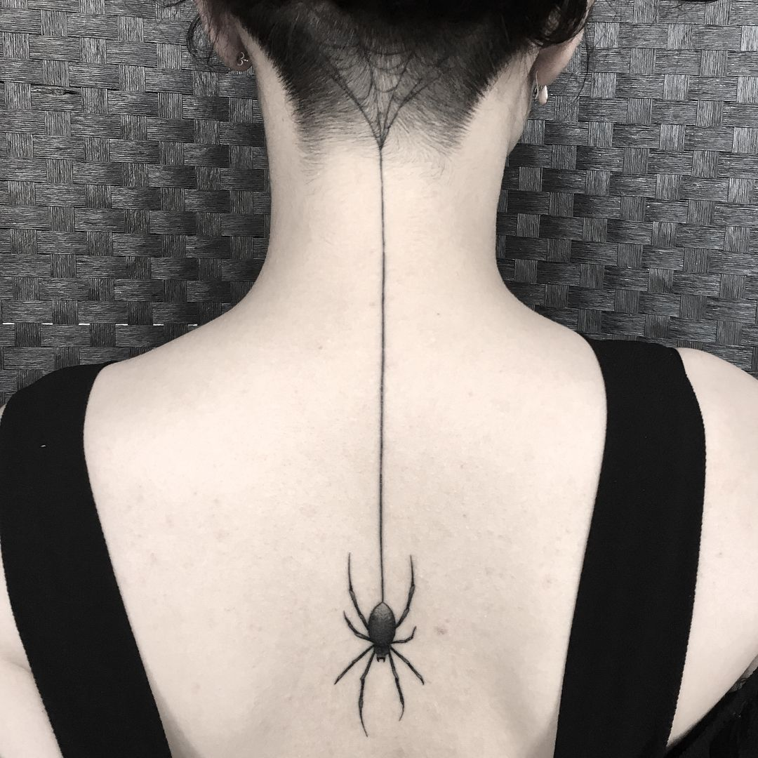 Pin On Spider And Scorpion Tattoo Design