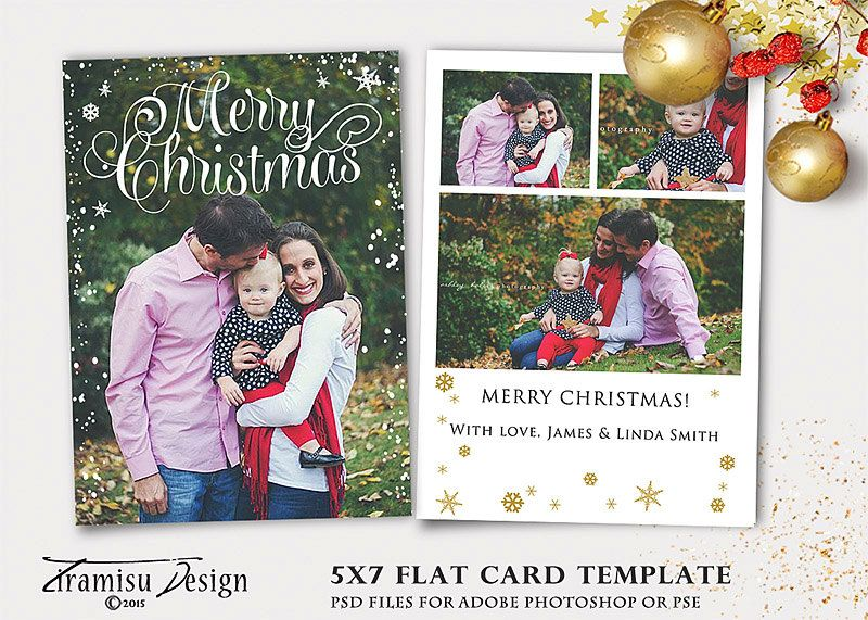 Christmas Card Template 5x7 In Holiday Card Adobe Photoshop Psd Template Instant Download Sku X Christmas Card Template Holiday Card Template Holiday Cards