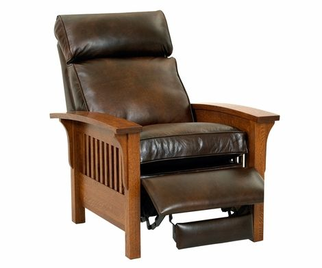 Cool Aldrich Mission Leather Recliner Chair Hand Crafted Onthecornerstone Fun Painted Chair Ideas Images Onthecornerstoneorg
