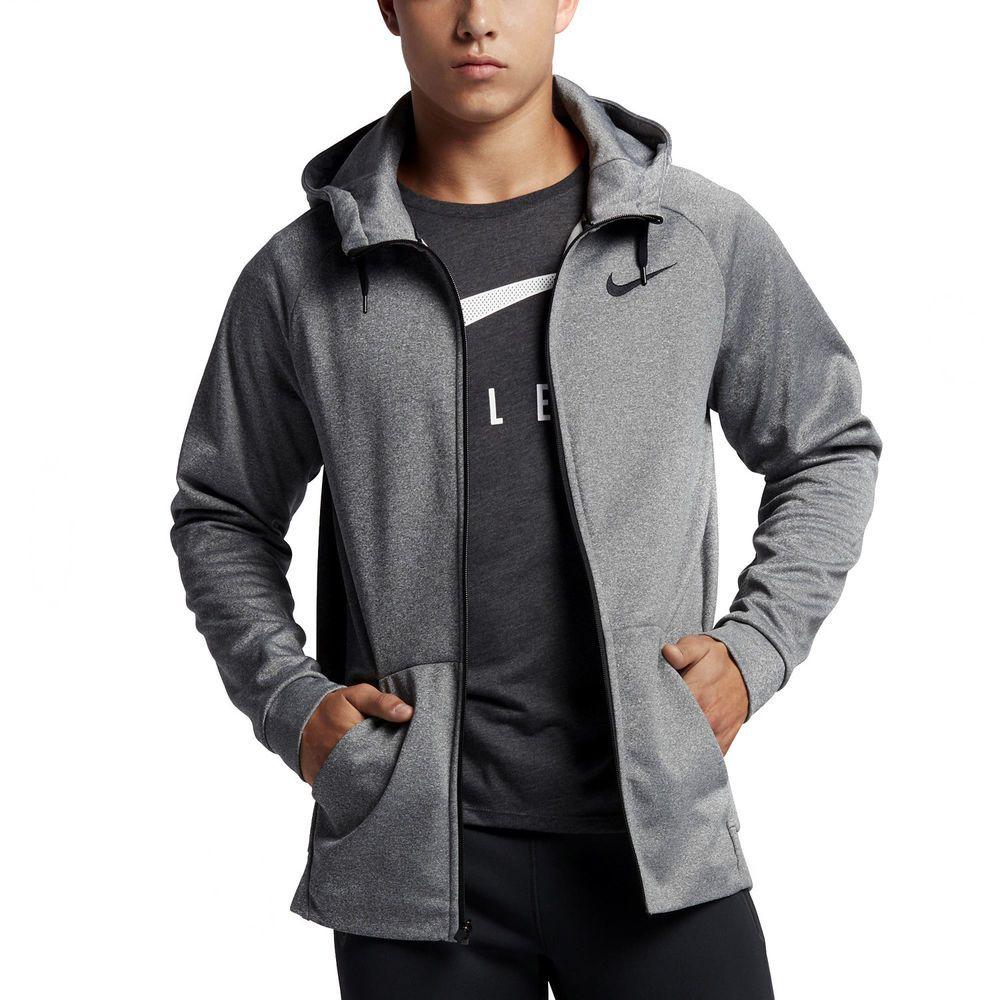 Mens nike therma training hoodie full zip sweatshirt