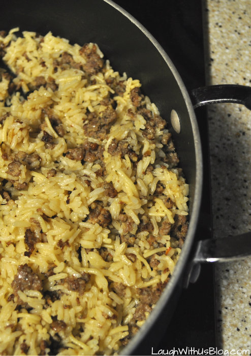 Photo of Sausage Rice Skillet Recipe–Quick, easy, and so yummy!