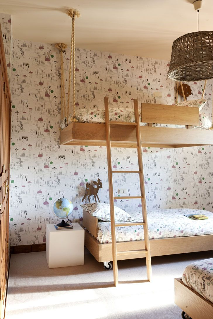 Hanging loft bed ideas  bunkbeds  For The Children  Pinterest  Beautiful kids Kids rooms