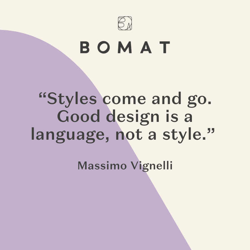 Here are some words of inspiration from Massimo Vignelli, a world-renowned Italian designer!   Vignelli worked firmly within the Modernist tradition and focused on simplicity through the use of basic geometric forms in all his work.   #interiordesign #luxuryinteriordesign #luxuryinteriordesignin spiration #happyfeet #furniture #room #roomcolors #roomdesign #luxuryhomedesign #homedecorcolors  #bomat #MassimoVignelli #MassimoVignelliquote #luxuryinspiration