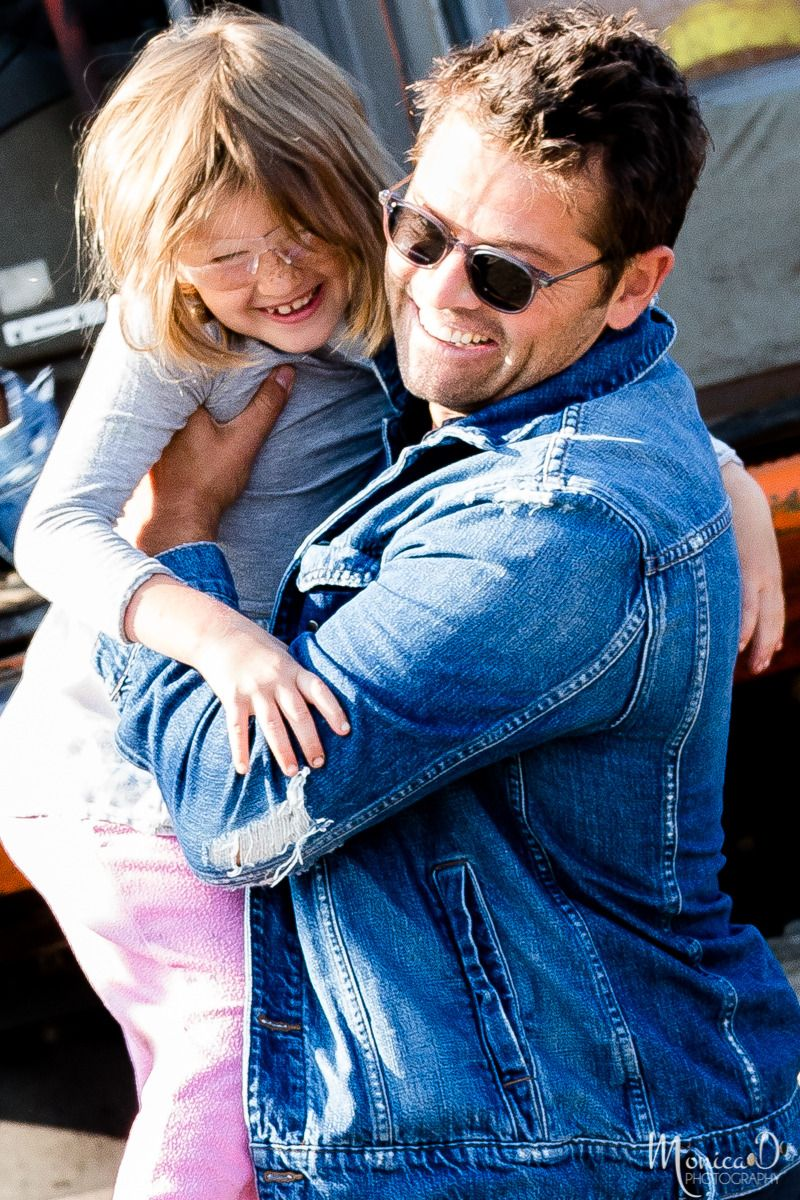 Monica D Photography — Misha Collins and daughter, Maison, after ...