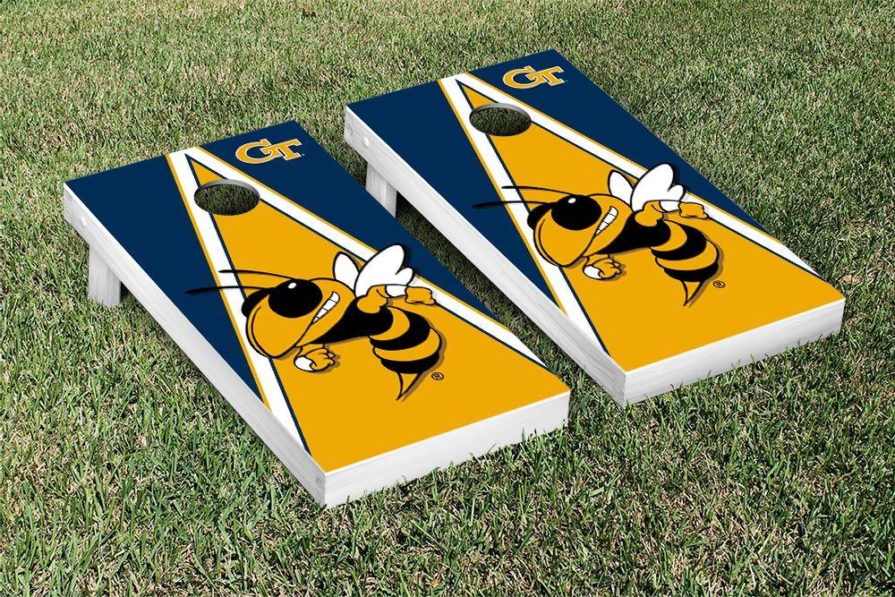Tech GT Yellow Jackets Cornhole Game Set Triangle