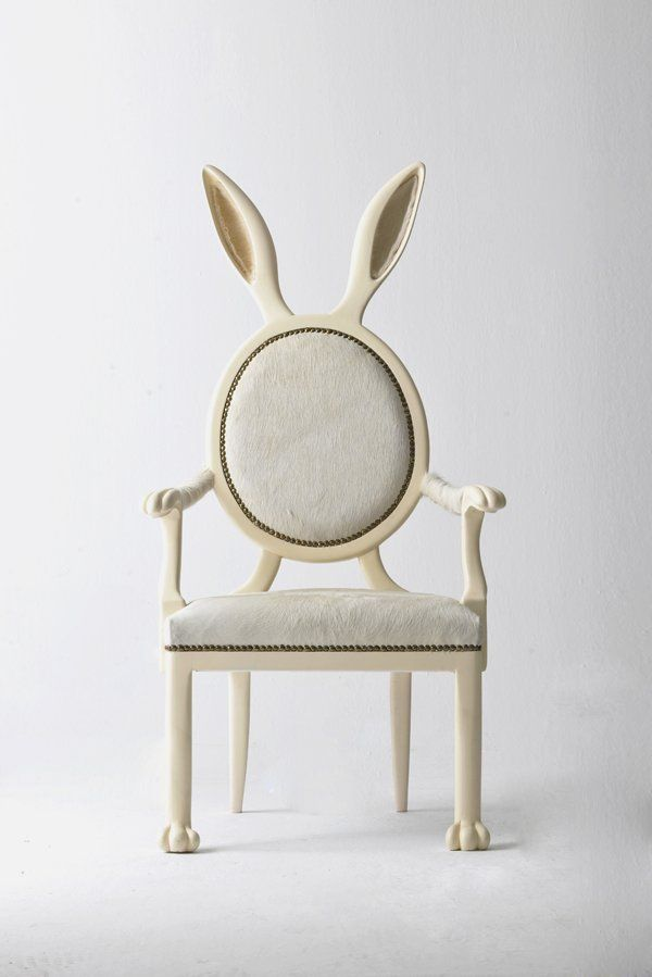 Front View Of Rabbit Shaped Unique And Elegant Chair In Zoomorphic Design