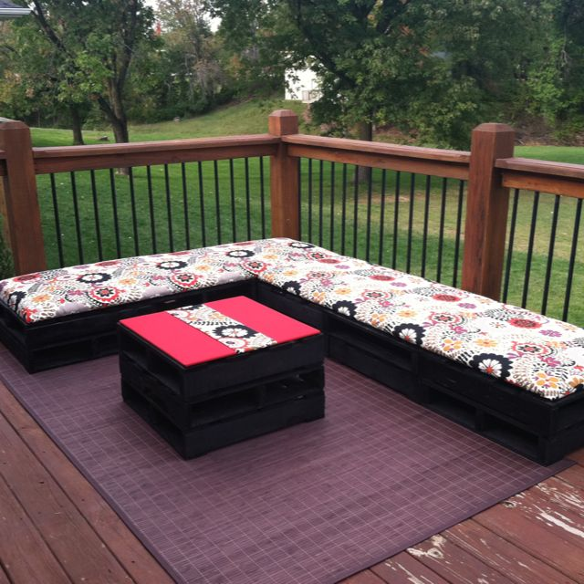 shipping pallet furniture ideas. Outdoor Patio Furniture Made With Shipping Pallets. So Easy!! Pallet Ideas L