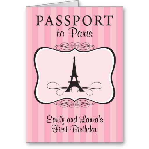 I like the passport idea free paris passport birthday invitations free paris passport birthday invitations stopboris Image collections