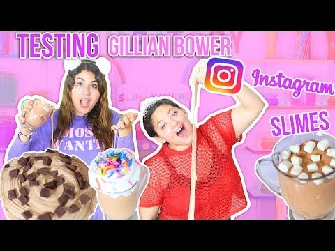 Testing Gillian Bower Instagram Slimes Food Slimes Slimeatory