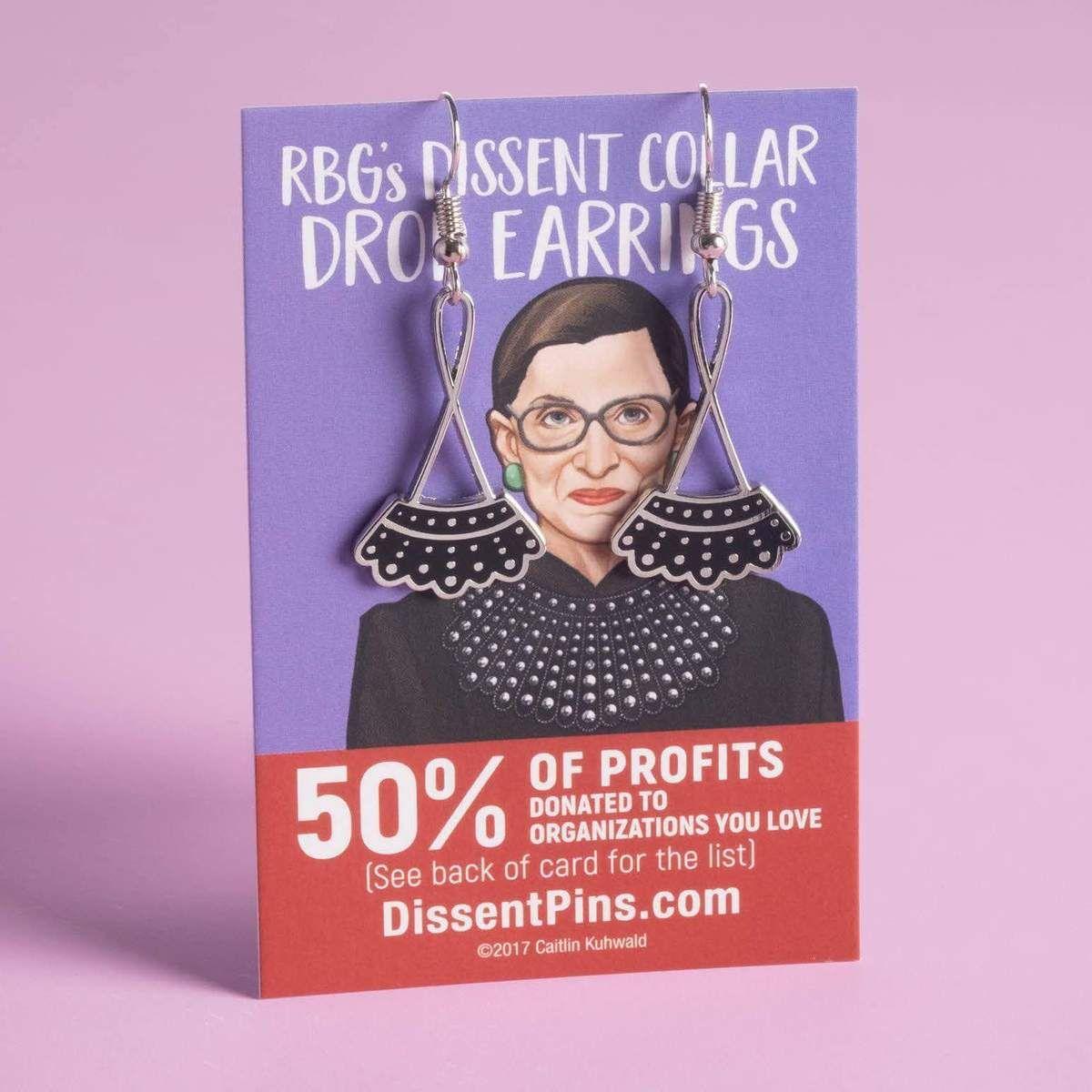Dissent Collar Drop Earrings Drop earrings, Earrings
