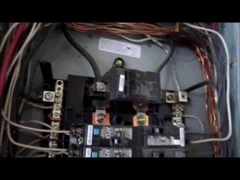 wiring 110/120 220/240 in garage or shop with in wall breaker panel -  youtube