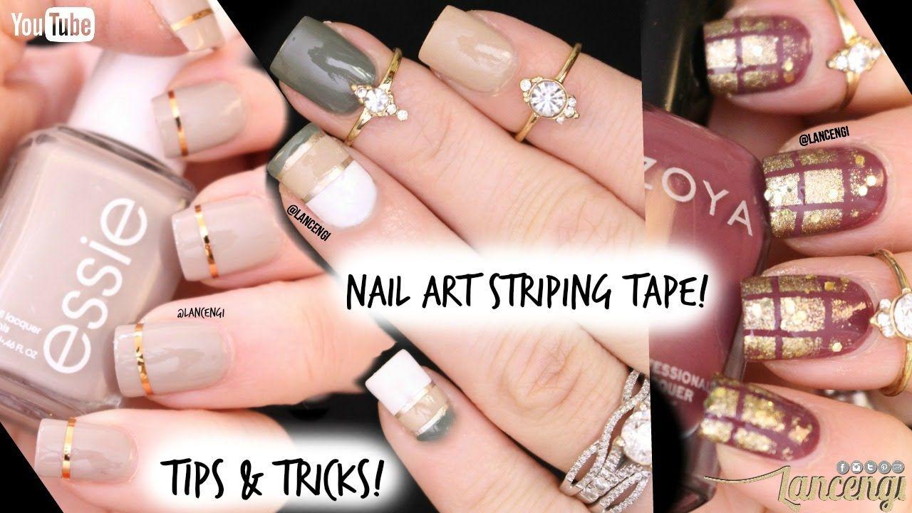 Tip Tricks Nail Art Tape Diy Cute Easy Nail Art Designs For