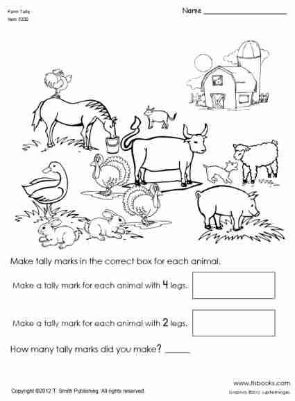 snapshot image of farm animal tally mark worksheet letter of the week pinterest. Black Bedroom Furniture Sets. Home Design Ideas