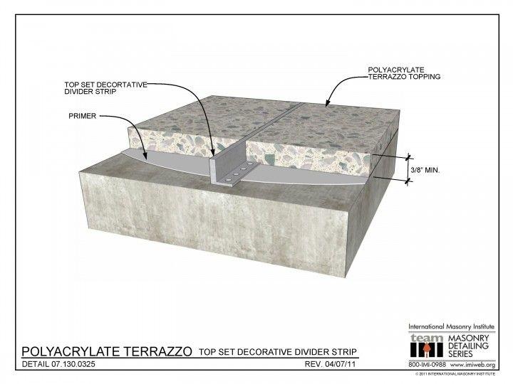 decorative masonry block.htm 07 130 0325 polyacrylate terrazzo top set decorative divider  07 130 0325 polyacrylate terrazzo top