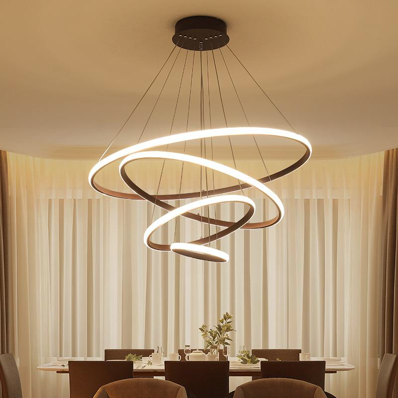 Modern Led Circle Chandeliers Lighting With Images Chandelier