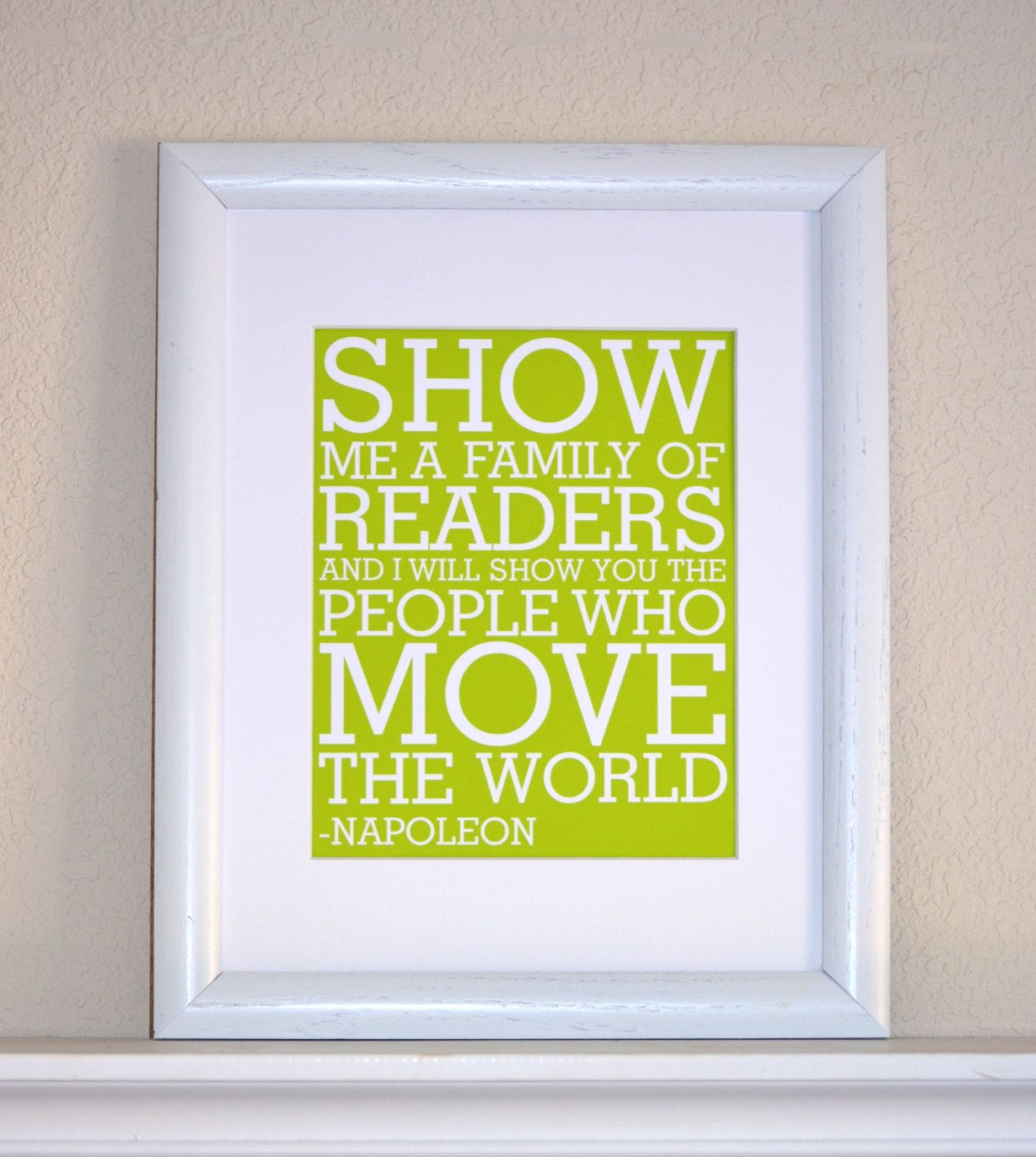 Read Quote, Napoleon, Modern Art Print Typography Nursery wall decor ...
