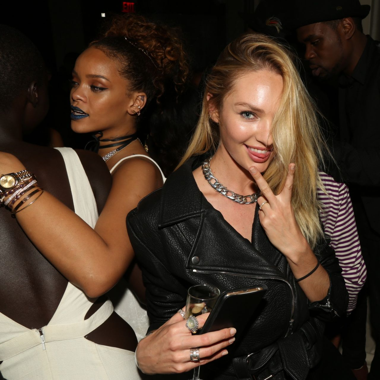 Candice Swanepoel – Rihanna's party at The New York Edition in NYC, September 2015