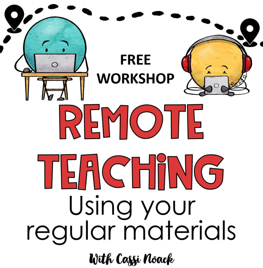 Free Remote Learning Workshop 6 Doable Lessons In 2020 Online Teaching Resources Teaching Lessons Online Teaching