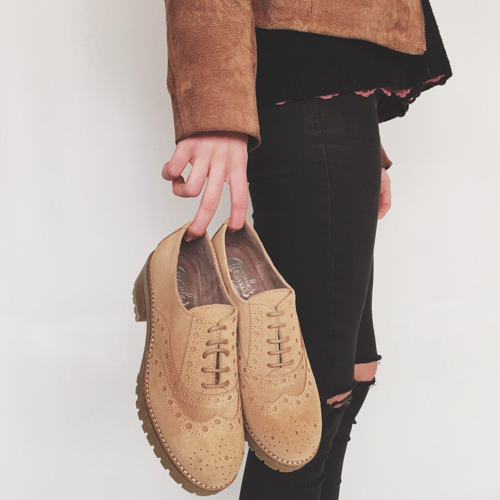 7ef875a4425 Oxfords serraje nora MARLOS FEELINGS   Zapatos Marlo's Online ...