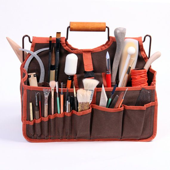 Artist S Tools Bag Xiem Art Supplies Carrier Ceramic Tote Pottery Organizer Clay Student Transport Xab