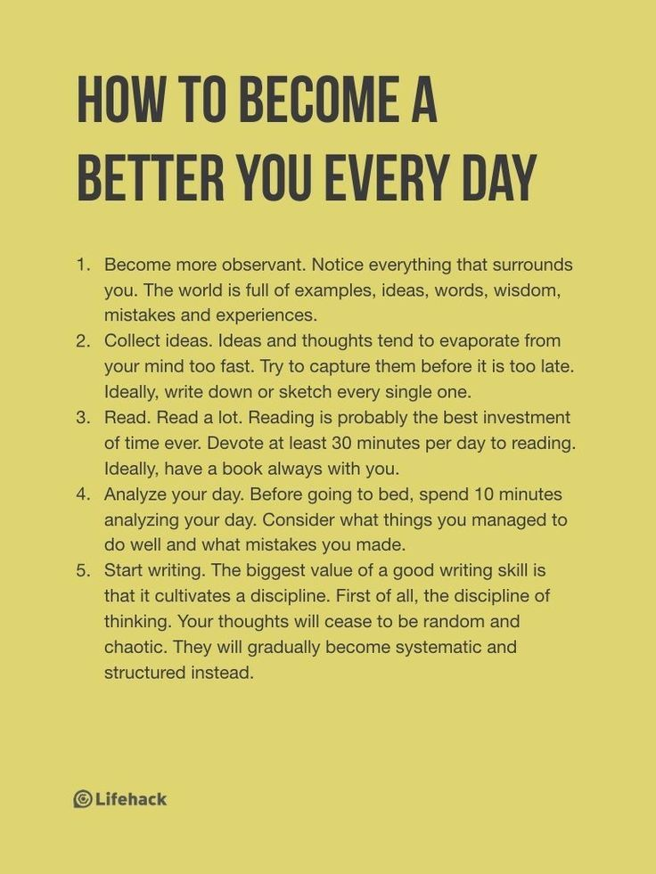 things to become a better person