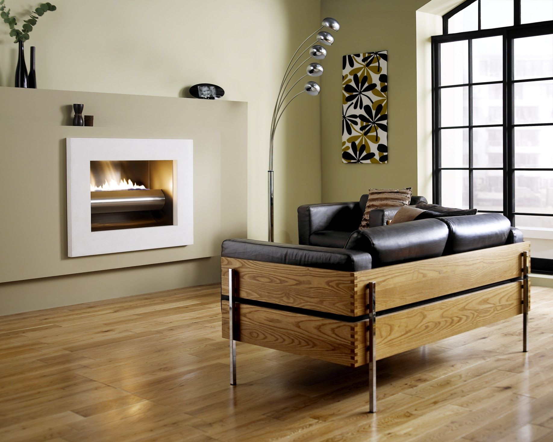 Modern hole in the wall style fireplace fireplace trends modern