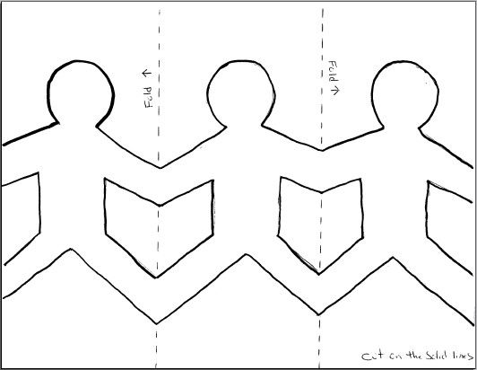 Paper Dolls Holding Hands Template - Google Search | Clw