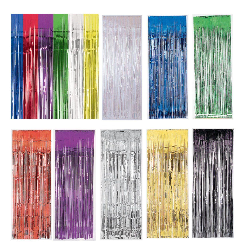 metallic fringe door curtain photo