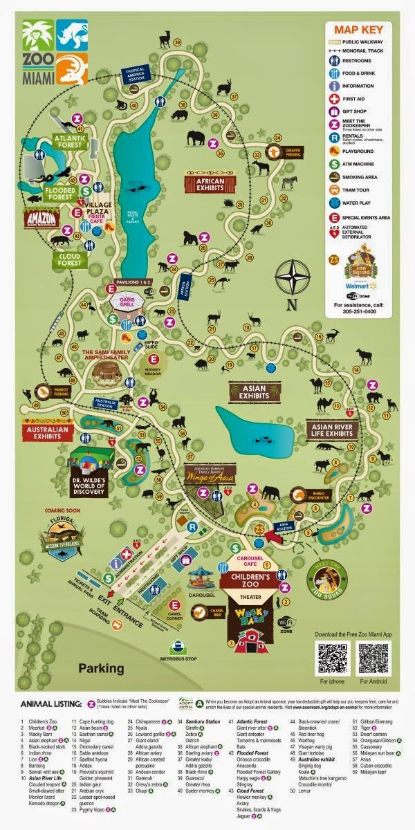 A map of Zoo Miami! Peace, and Ice Cream!: 7 Tips for ... San Go Zoo Map Directions on okc zoo map, sandiego zoo map, seaworld san diego map, sac zoo map,