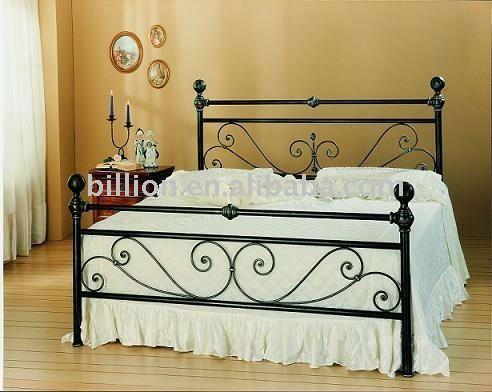 Personalizado camas de hierro forjado diseños-en Conjunto de ...