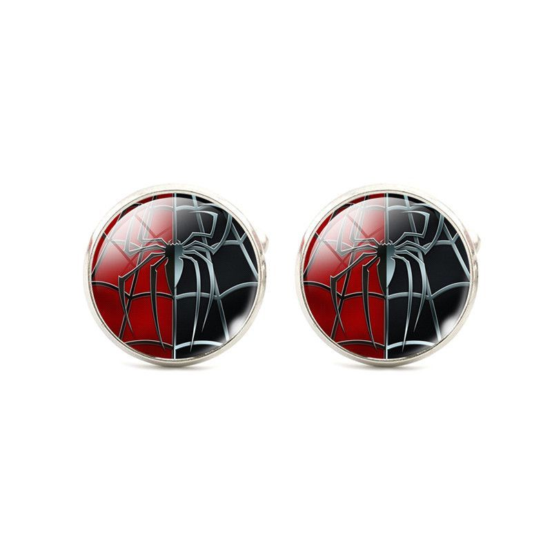 Cuff links Silver Plated Super Hero