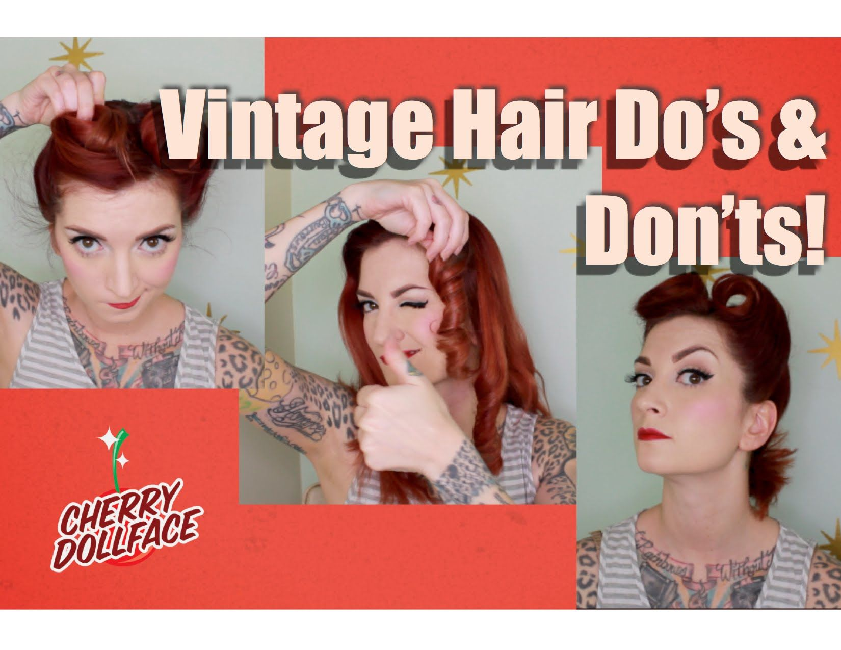 This is one of the fastest and easiest vintage hairstyles you can do