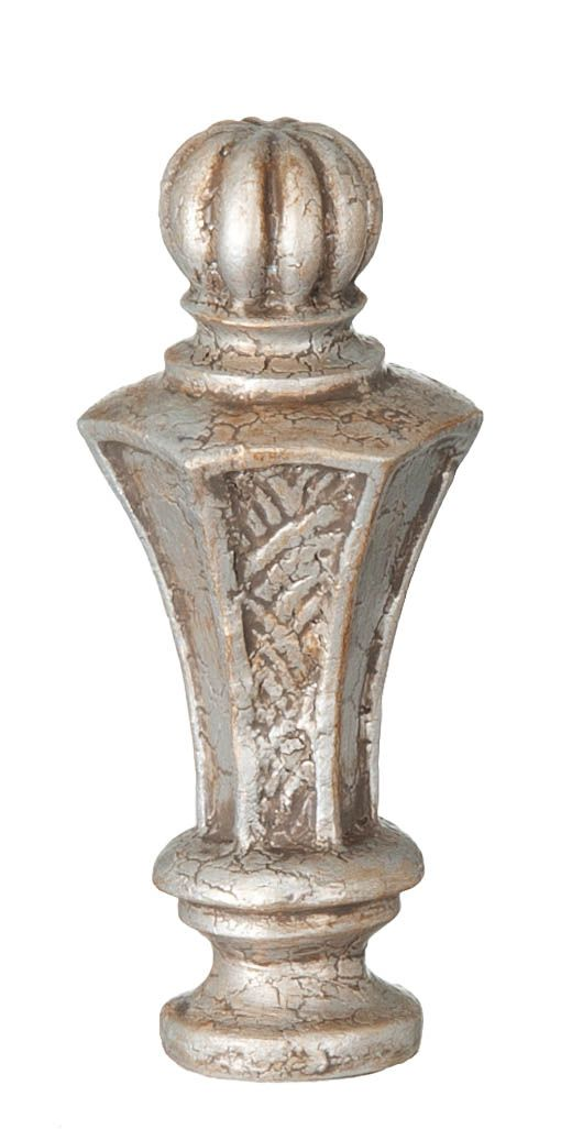 Regent Style Large Lamp Finial, Nickel 11034N | Antique Lamp Supply