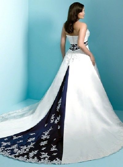 287fab24fb4 ALFRED ANGELO 20W NEW 1708 WHITE NAVY SATIN LACE DREAM IN COLOR WEDDING  DRESS  AlfredAngeloBridalDreamInColorCollection